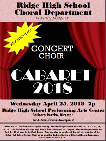 Cabaret 2018!
